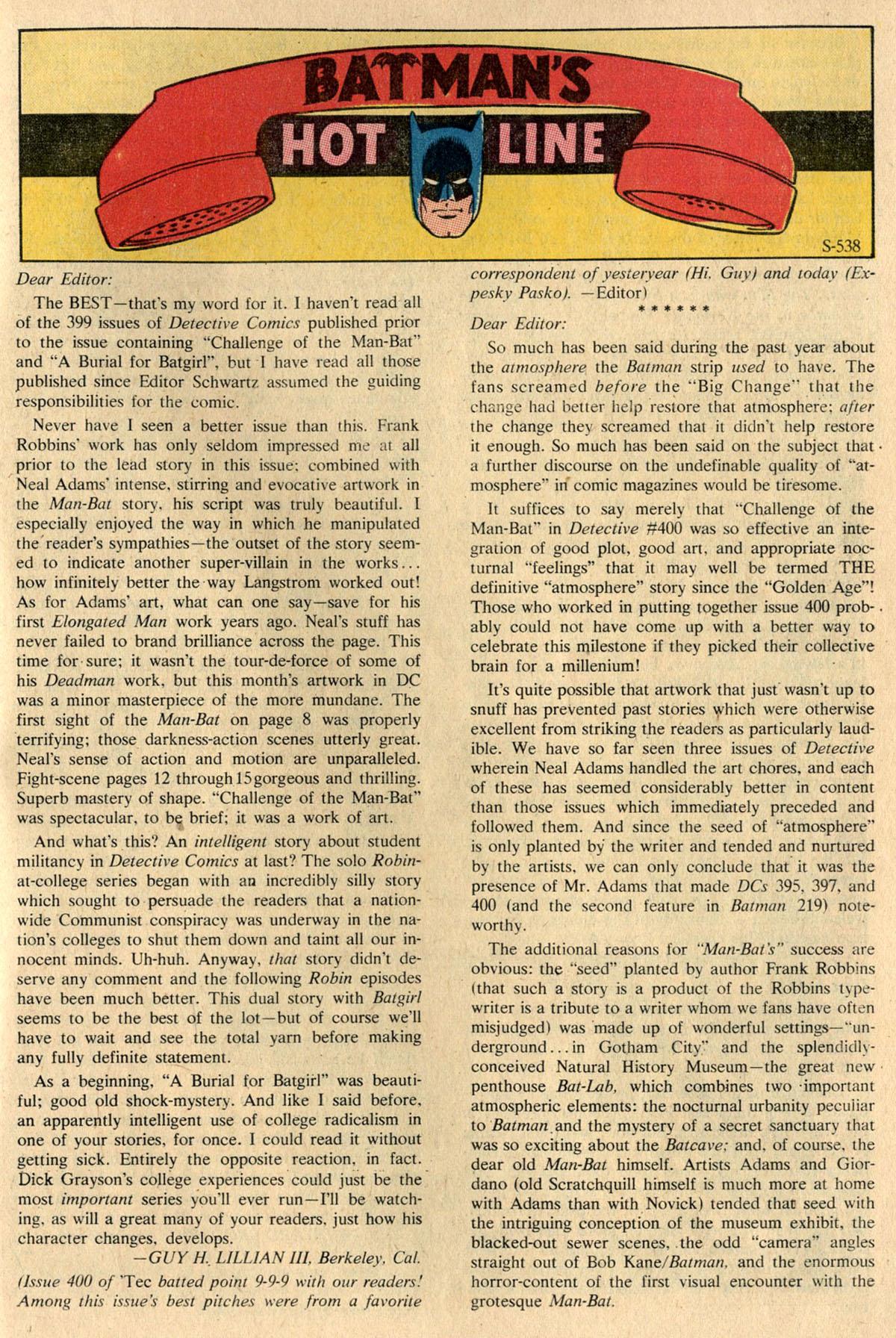 Detective Comics (1937) 404 Page 30