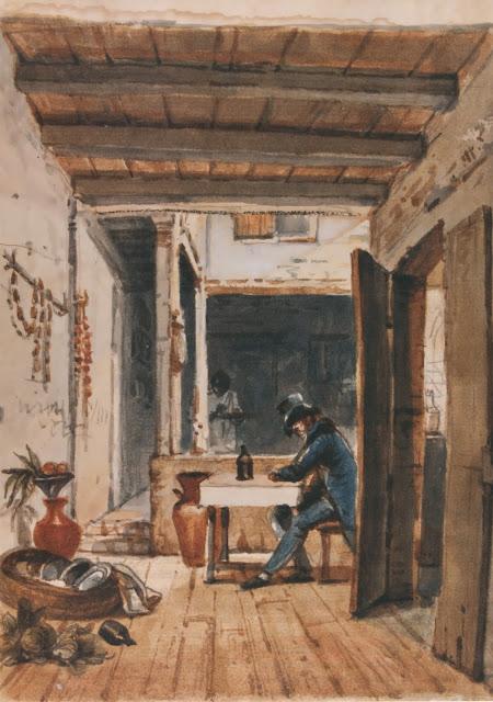 Jean-Baptiste Debret - Autorretrato en una taberna - 1816