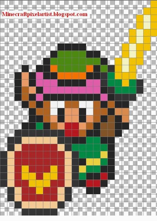 Link Legend of Zelda-Minecraft Pixel Art Template and Tutorial ...