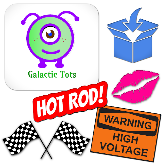 Galactic Tots - Vinyl Decals Graphic Design Seattle Copywriting Photography © 2017