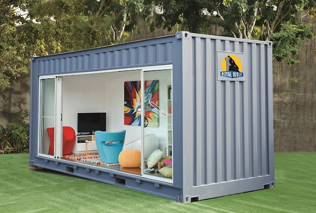 20 foot Shipping Container Outdoor Room by Royal Wolf 1