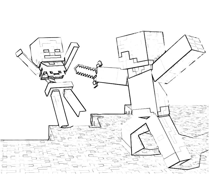 Minecraft Hunger Games Coloring Pages Coloring Pages