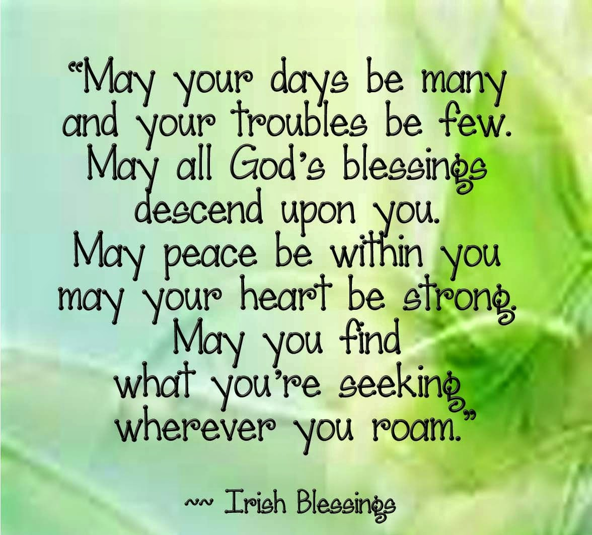 Blessings Quotes: In Plain English ...: IRISH BLESSINGS