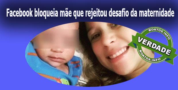 Facebook bloqueia mãe que rejeitou desafio da maternidade
