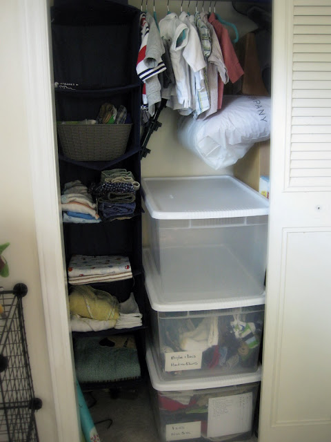 simplifying and organizing baby clothes