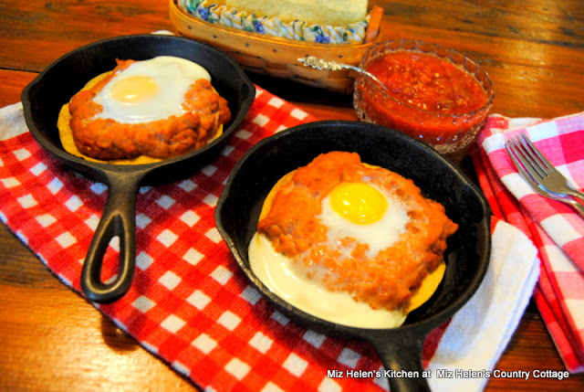 Baked Huevos Rancheros at Miz Country Cottage