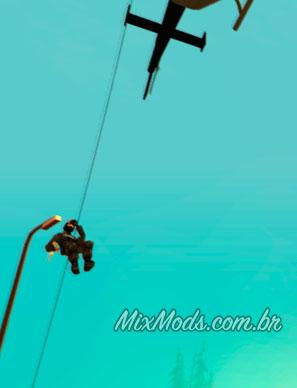 nova animação de rappel do helicóptero da polícia para gta sa