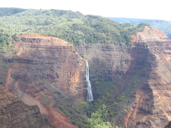 Waipo'o Falls Canyon view Kauai