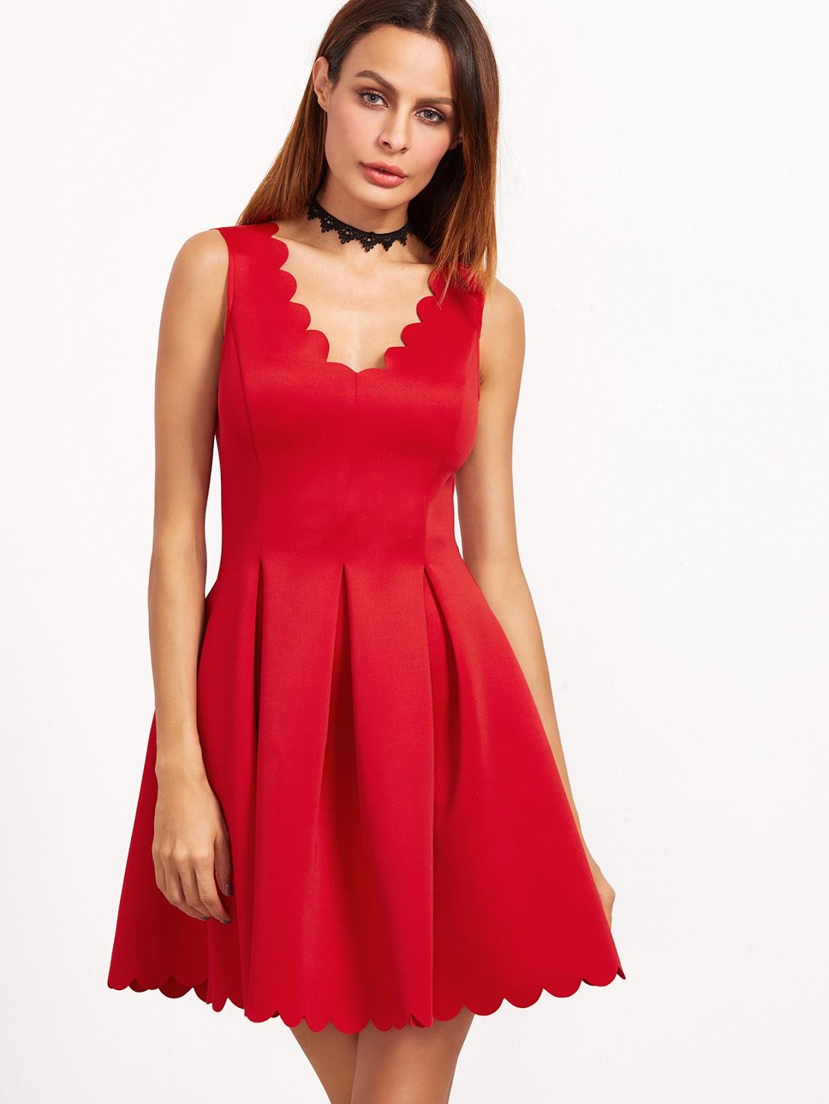 Perfecto peinados para vestido rojo Imagen de cortes de pelo consejos - 50 Vestidos Rojos ¡Ideas Perfectas para Ti! | Vestidos ...