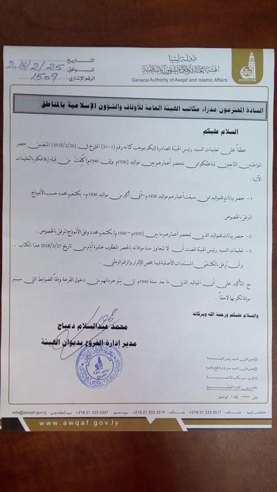 موعد تسجيل قرعة الحج في ليبيا 2018