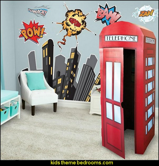 Superman theme bedroom decorating ideas