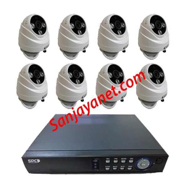 Jual Paket CCTV 8 Kamera SPC 1.3MP lengkap murah