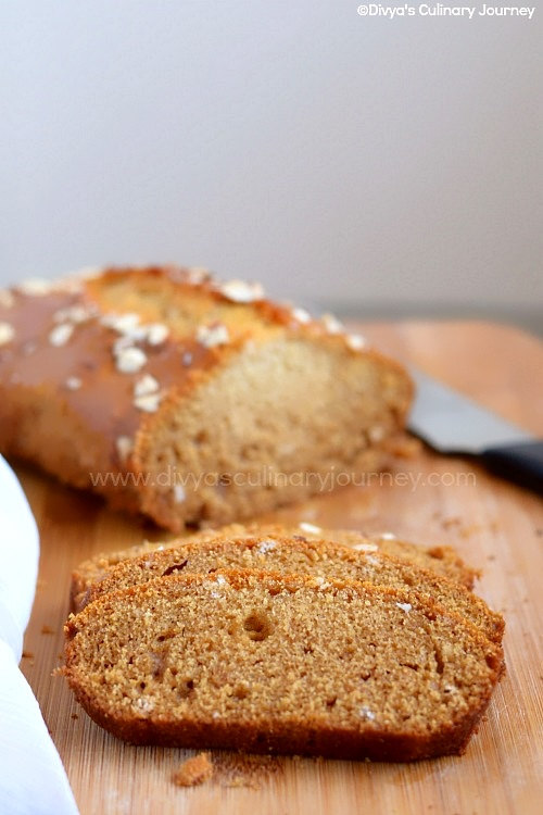 Egg less butter less honey snack cake