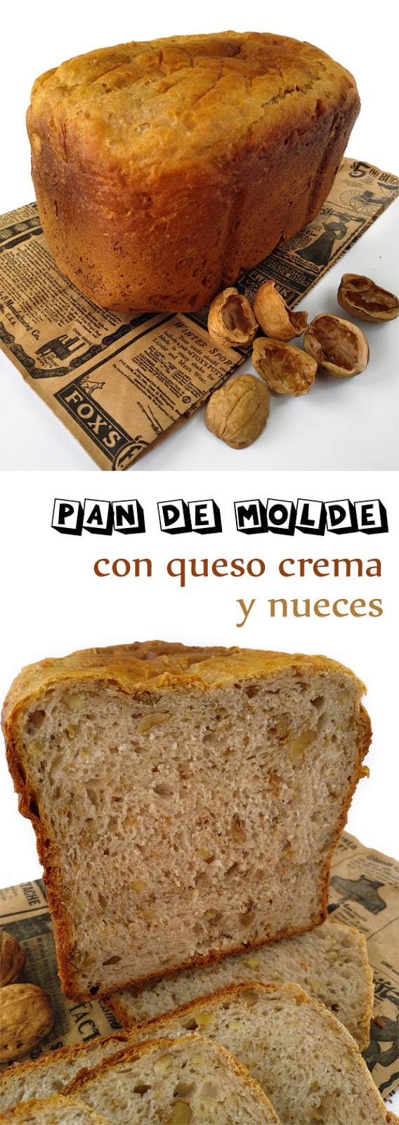 Pan de molde con queso crema y nueces la cocinera novata masa panaderia receta cocina comfortfood sanwich bread