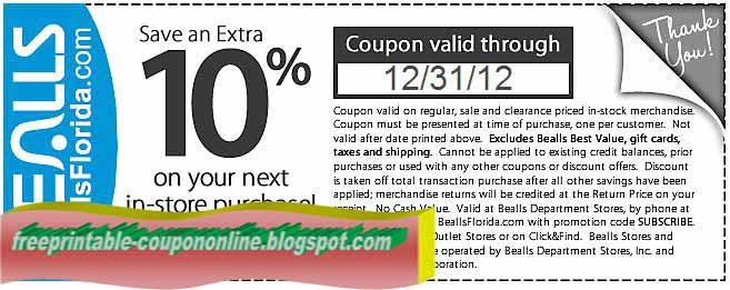 image regarding Free Printable Bealls Florida Coupon named Bealls purchase 1 order 1 free of charge / Busy Savings