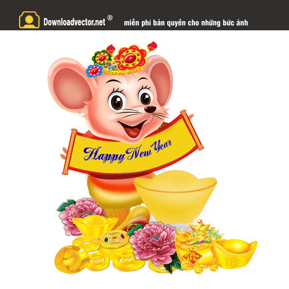 Vector Chuột vàng