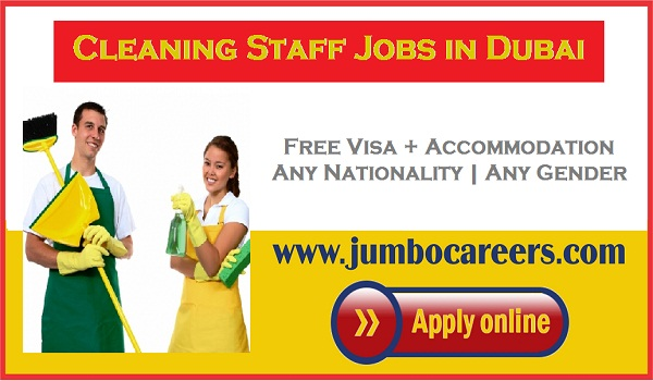 Dubai cleaning staff jobs for Indians, Available job vacancies in Dubai,