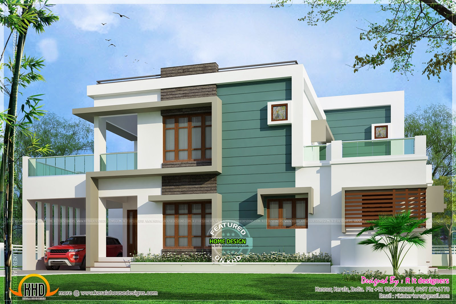Kannur home design kerala home design and floor plans for Square house design