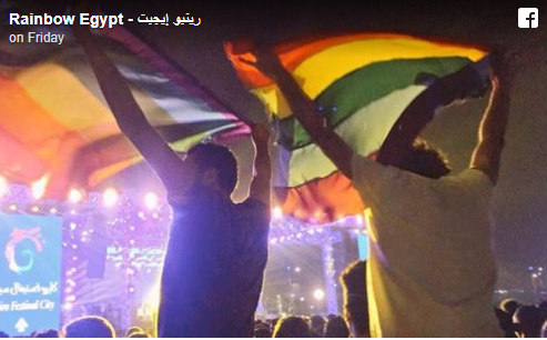 Egyptian police arrest seven people for allegedly raising rainbow flags at a concert