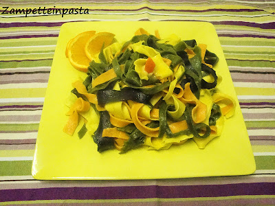 Tagliatelle di carnevale - Pasta fresca fatta in casa colorata
