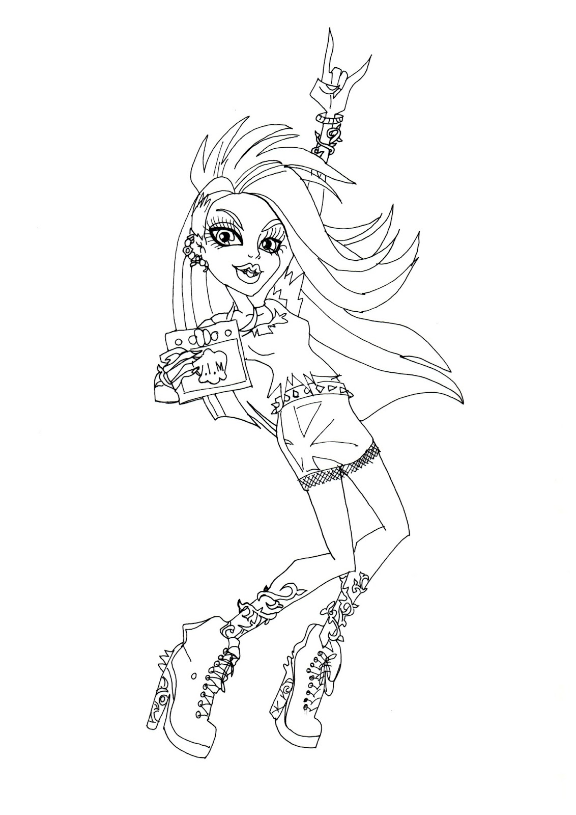 Click Here To Print Free Printable Monster High Venus Mcflytrap Music Festival Coloring Sheet