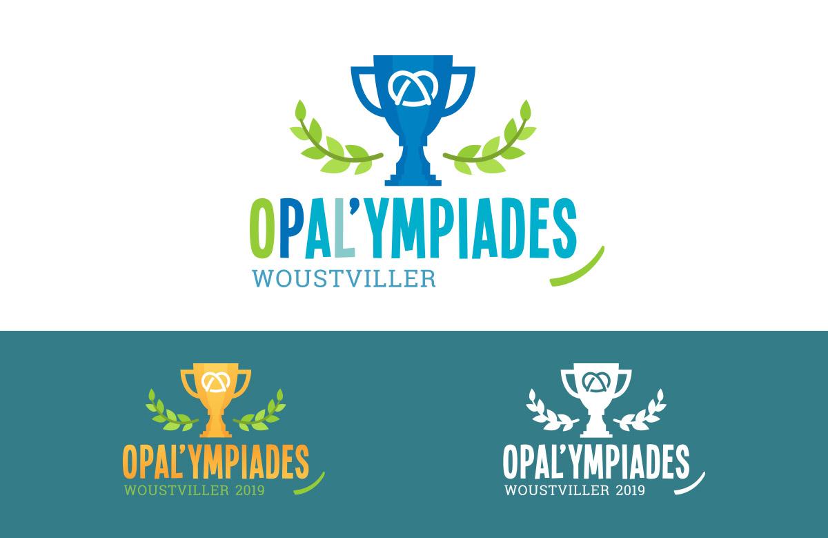 Création logo Opal'ympiades, olympiades sportive en centres de loisirs