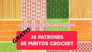 30 Patrones de Puntos Crochet / Gratis