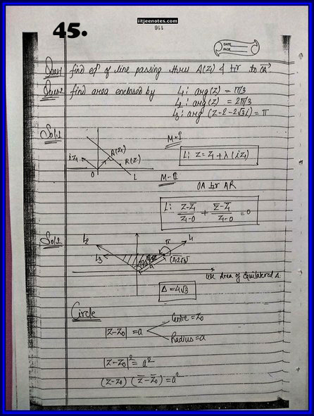 IITJEE Competition Notes On Complex Number 45