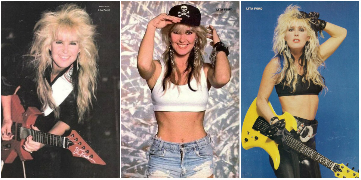 The Queen of Heavy Metal: 30 Portrait Photos of a Young Lita Ford in the 1980s and 1990s