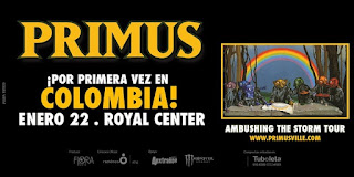Concierto de PRIMUS ¡Por primera vez en Bogotá!