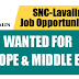 SNC-Lavalin Latest Career Opportunities in Europe & Middle East