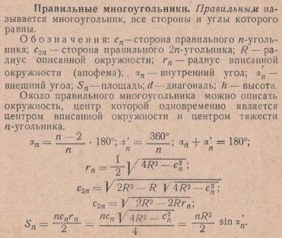 Правильные многоугольники формулы. Математика для блондинок.