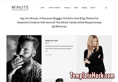 minute blogger template