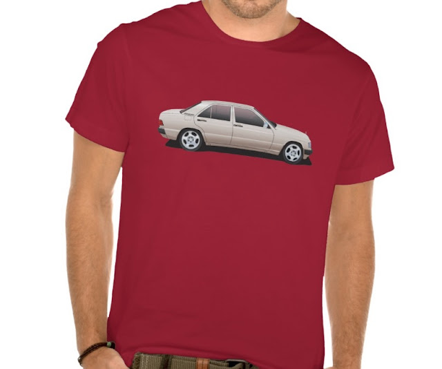 Mercedes-Benz W201 190E illustration t-shirts