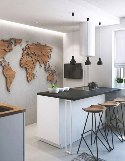 decorar con mapas del mundo
