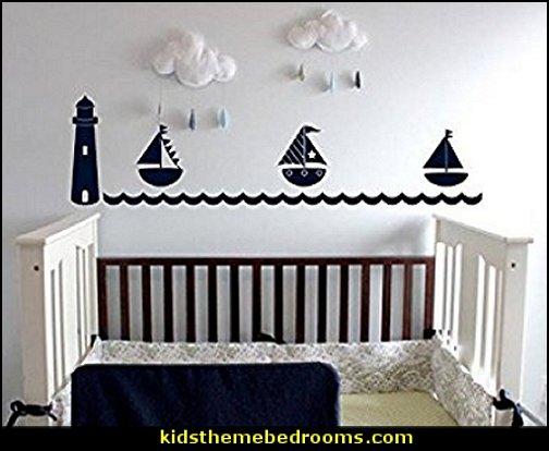 Nautical Baby Bedroom Decorating Ideas Nursery Decor Sailboat