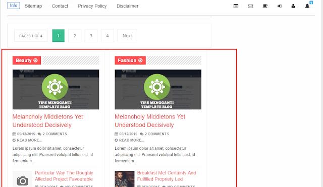 Cara Membuat Recent Post Berdasarkan Label Seperti EvoMagz Template