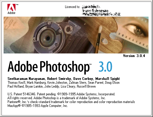 Adobe Photoshop 3.0.4