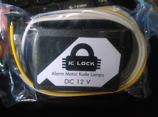 ic lock alat pengaman motor menggunakan sandi rahasia lampu