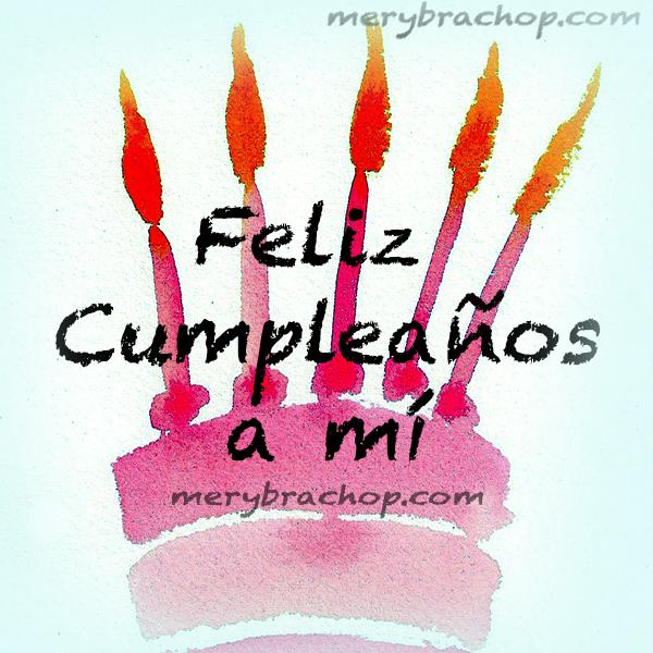 frases para mi cumpleaños con imagen bonita pastel rosa con velas