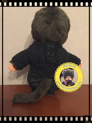 """Pull fait main, """"L'étrange Noël de Monsieur Jack"""", pour Kiki ou Monchhichi, tricot, handmade"""