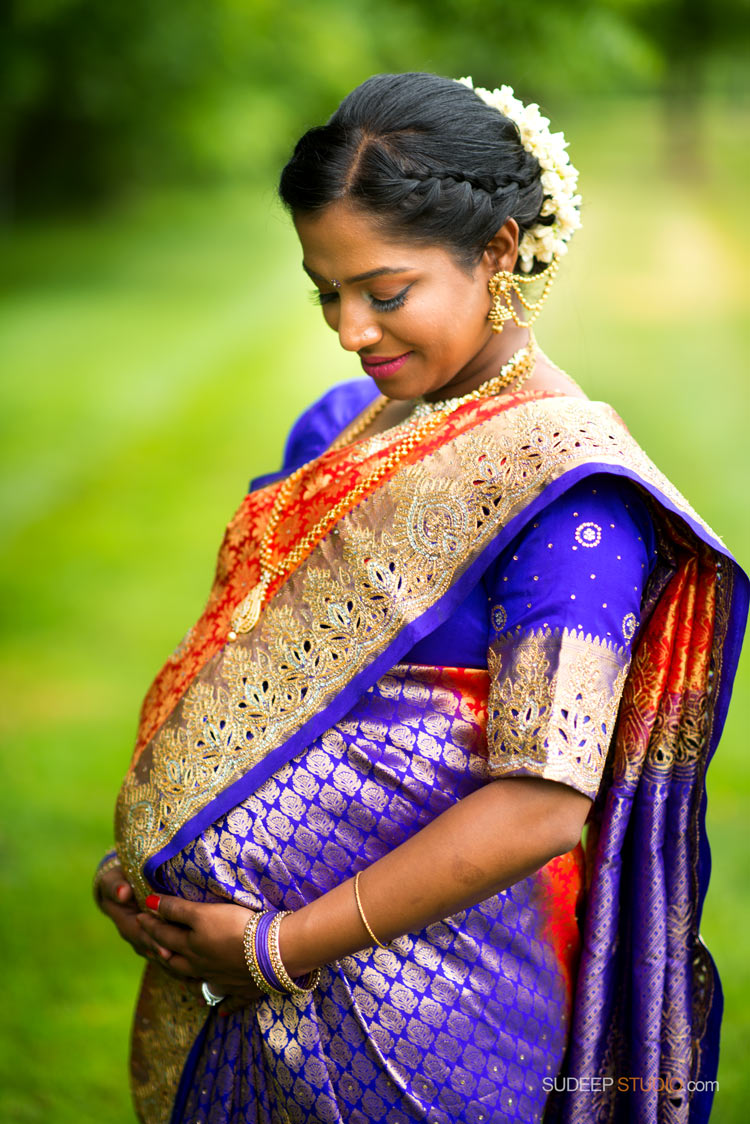Indian Baby Shower and Maternity Portrait Photography - Ann Arbor Photographer SudeepStudio.com