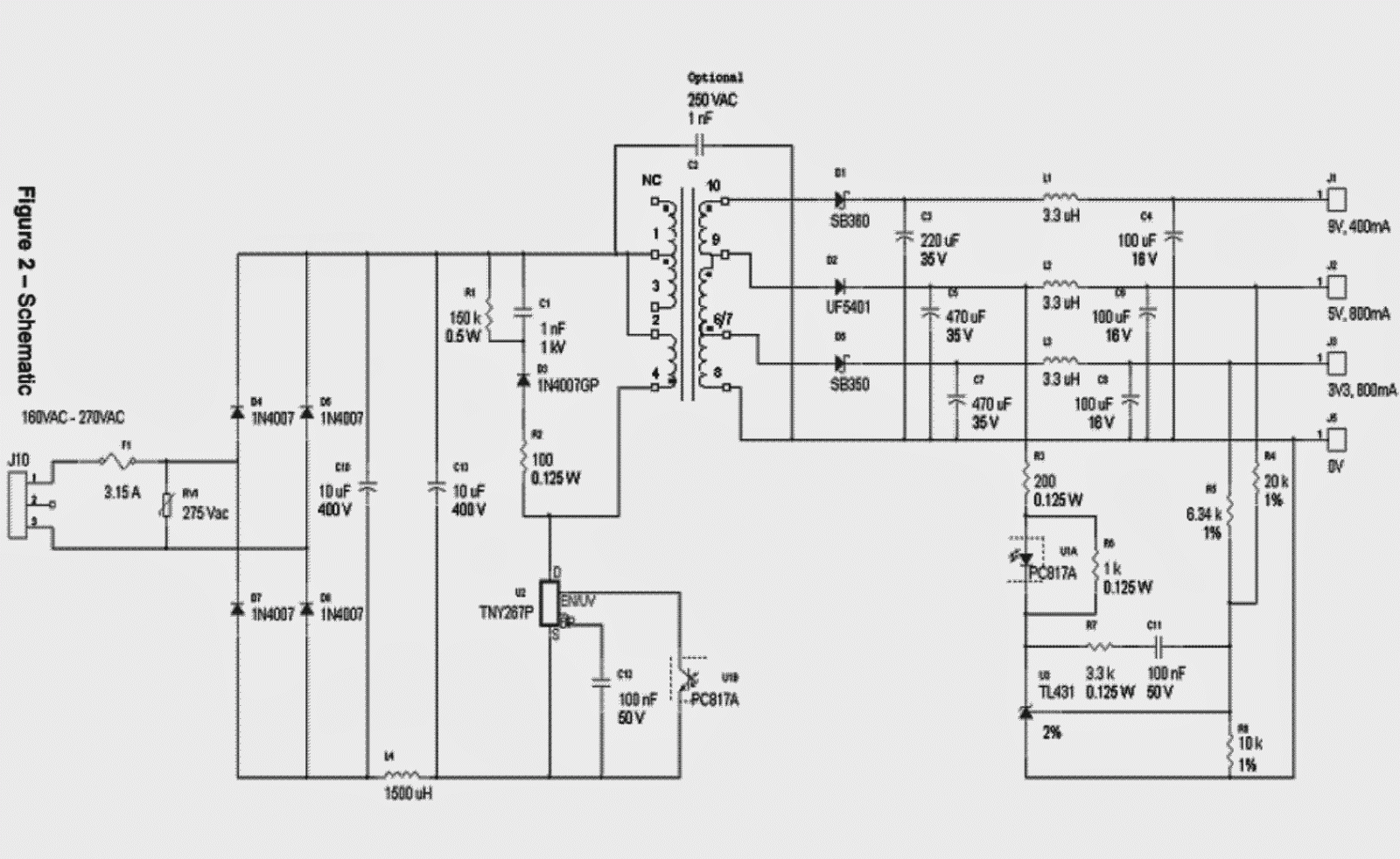 5v dc regulator with 3 pin regulator circuit schematic diagram