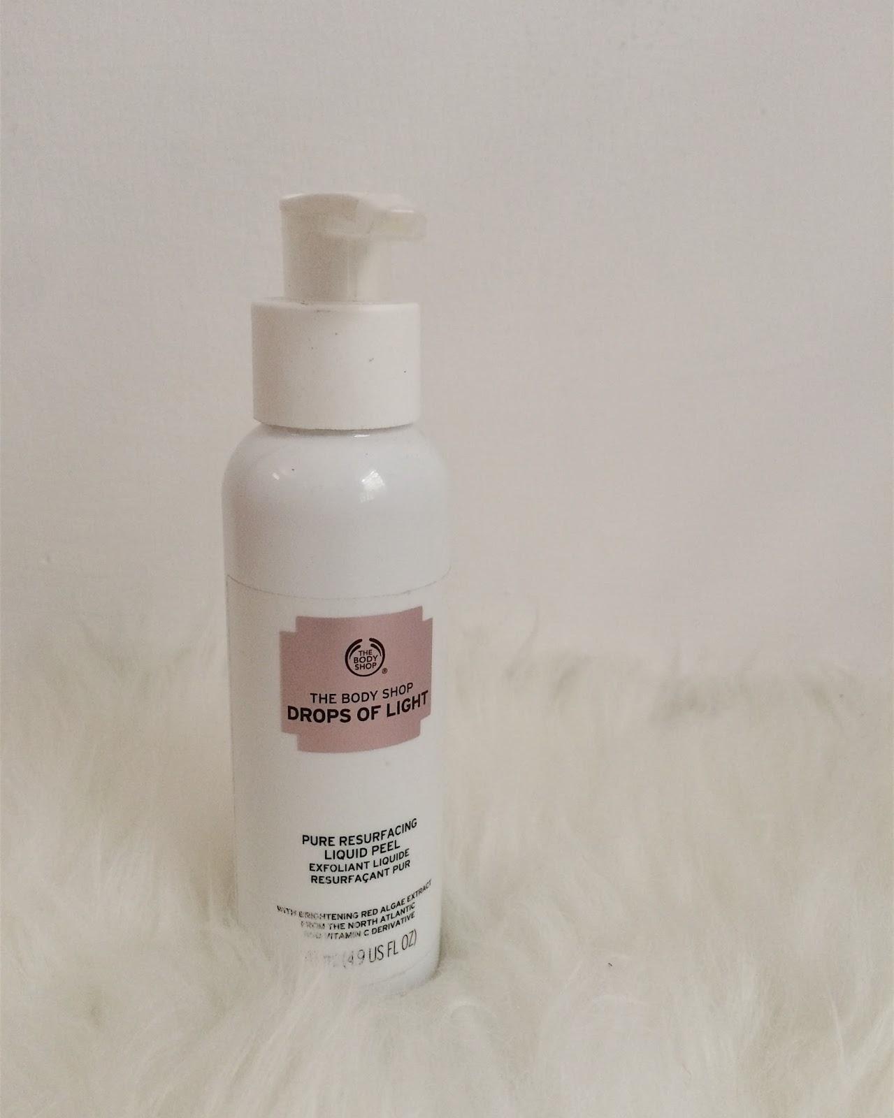 Review The Body Shop Drops Of Light Pure Resurfacing Liquid Peel Herstory Journal