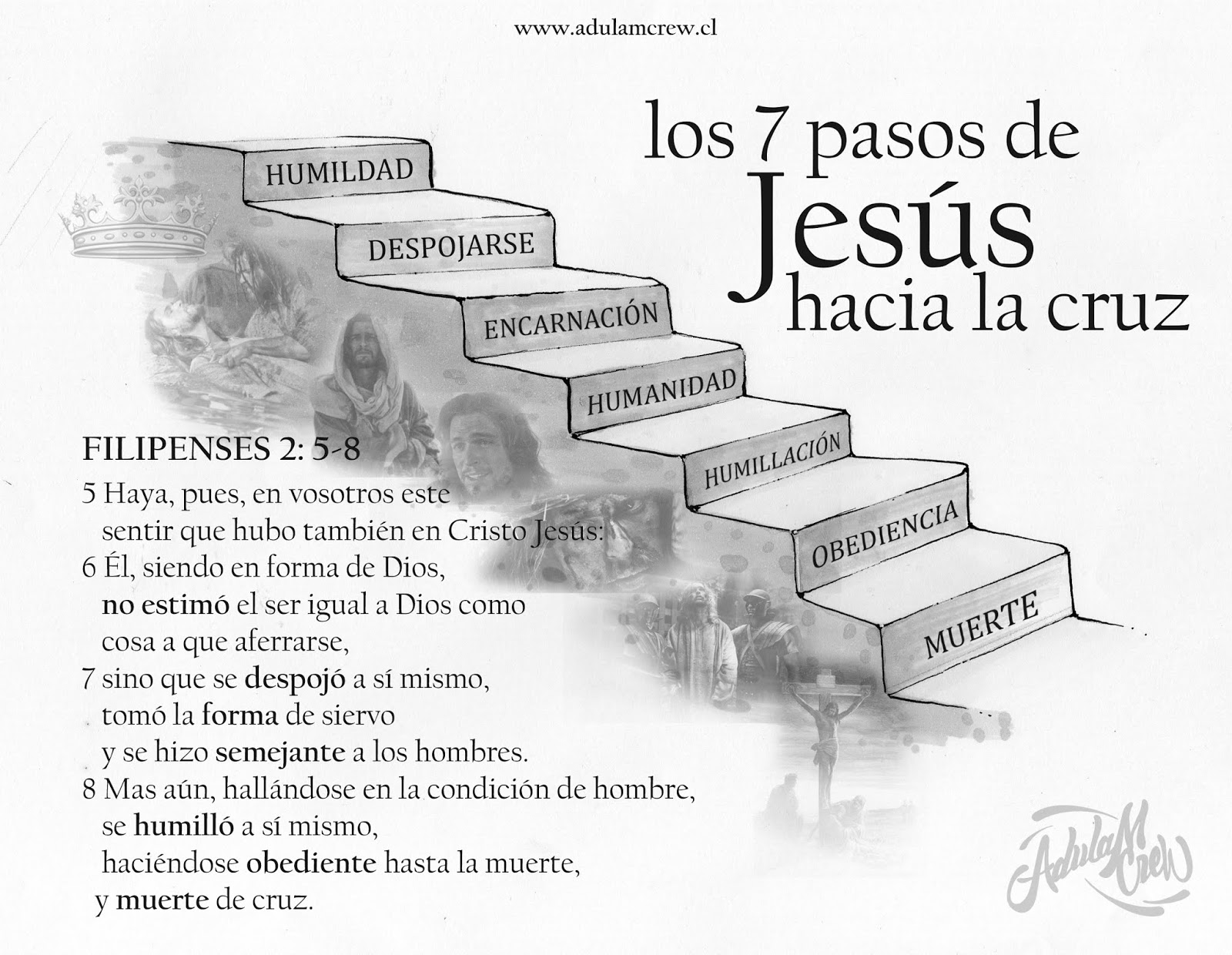 los 7 pasos de Jesús hacia la cruz - image 7%2BPASOS on http://adulamcrew.cl