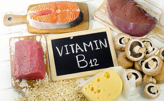 فوائد ووظائف فيتامين ب 12  B12 Vitamin ، المصادر الغذائية ، نقصه وسميته