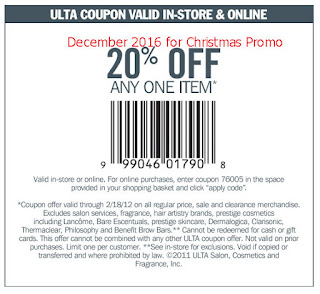 free Ulta coupons for december 2016