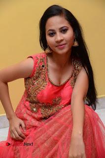Actress Aasha Rakul Pictures in Red Long Dress at Vetade Puli Audio Launch  0047.JPG