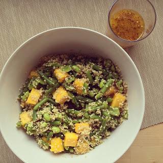 salade quinoa mangue haricots verts pois fèves