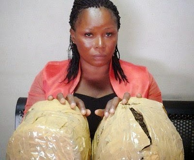 Photo: Mother of three caught with Cannbis at Lagos Airport